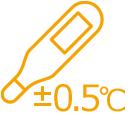 ±0.5℃の高精度測定